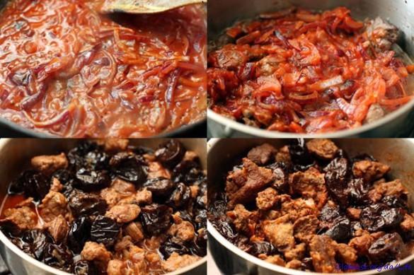 Вкусные рецепты говядина с черносливом