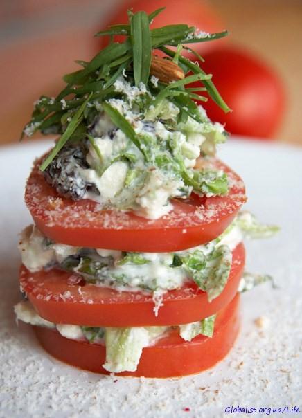 рецепты салатов с творожным сыром