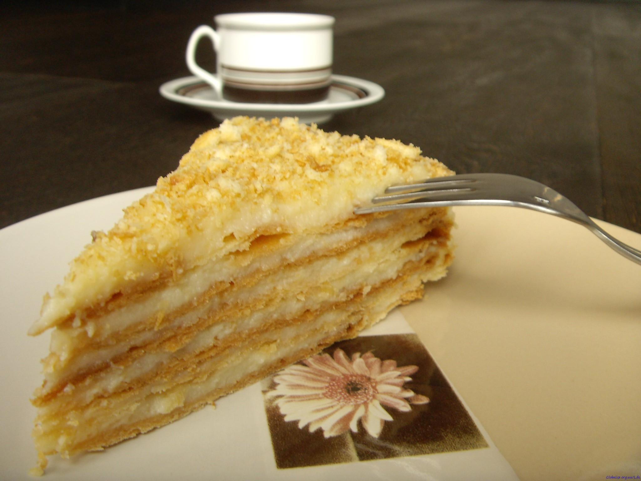 Торт Наполеон в домашних условиях - рецепт с фото 96