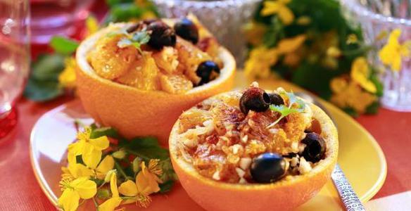 салат с апельсинами, новогодние салаты, рецепты салатов, новые салаты
