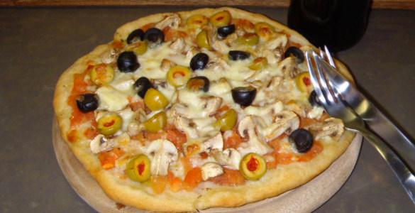 рецепты пиццы з оливками