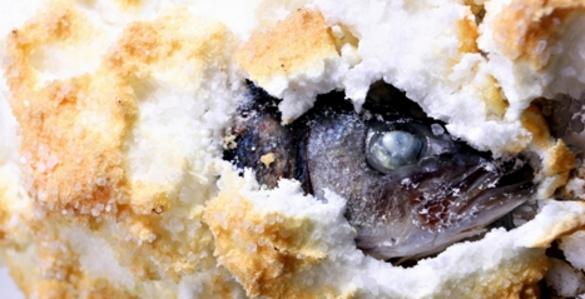 Морская рыба запеченная в соли - шедевр Средиземноморской кухни.