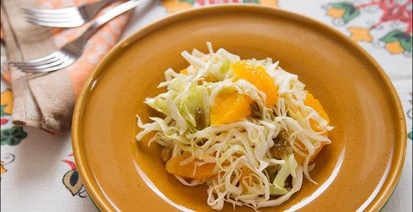 Апельсиновый постный салат вкусные