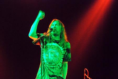 Егор Летов. Фото с официального сайта Гражданской Обороны, концерт в Киеве 2007
