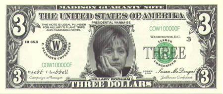 хиллари клинтон на долларе 2008
