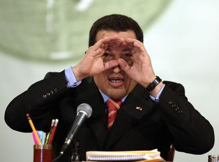 уго чавес, ищет кого бы еще послать. вы не спрятались? держитесь!