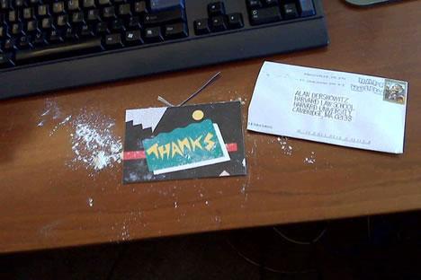 белый порошок в конверте