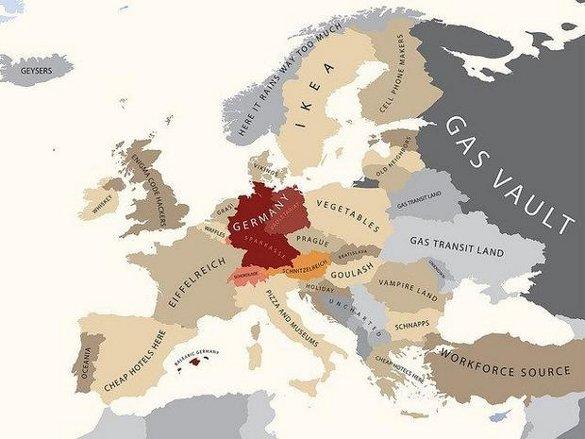 Европа, согласно немцам