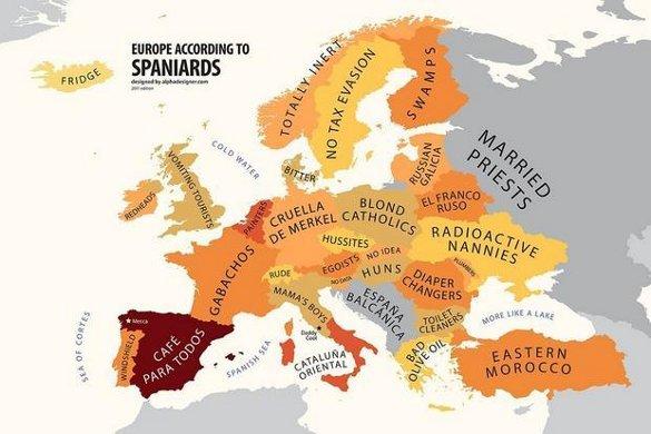 Европа в представлении испанцев