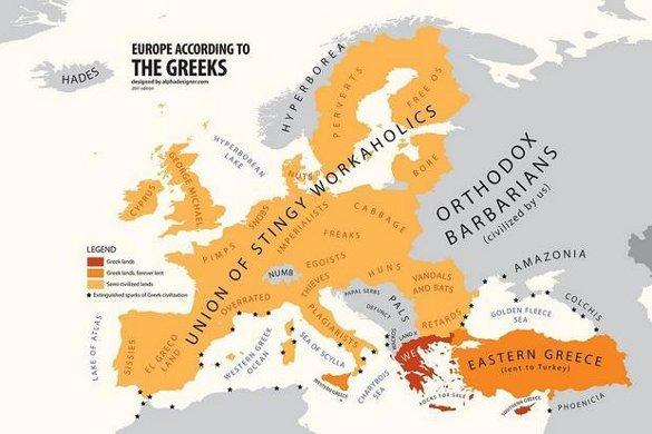 Что думают греки о Европае