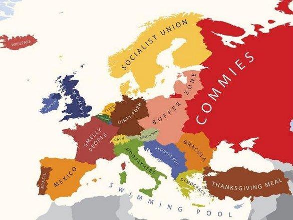 Европа в представлении американцев