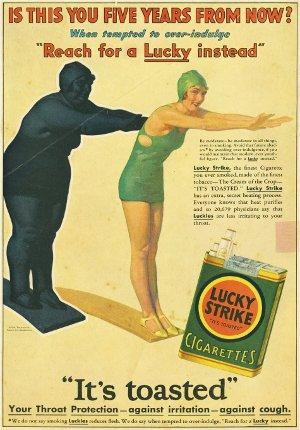Реклама намекает, что некурящие едят больше.
